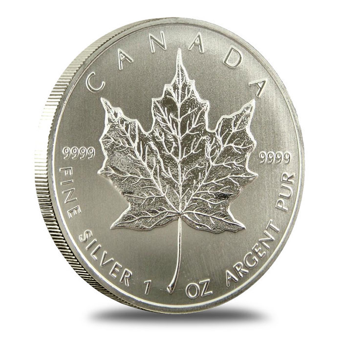 2012 1 oz Canadian Silver Maple Leaf Coin Reverse