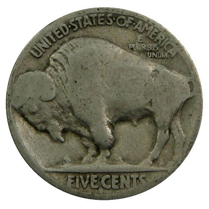 No Date Buffalo Nickel Reverse
