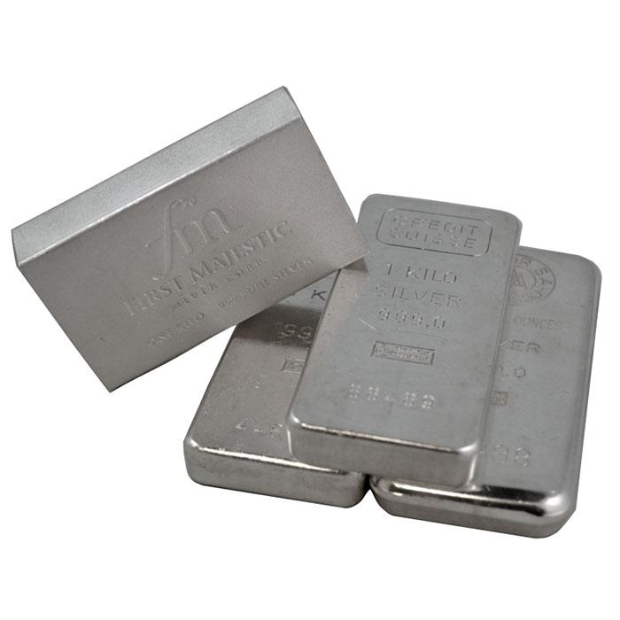 1 Kilo .999 Silver Bullion Bar