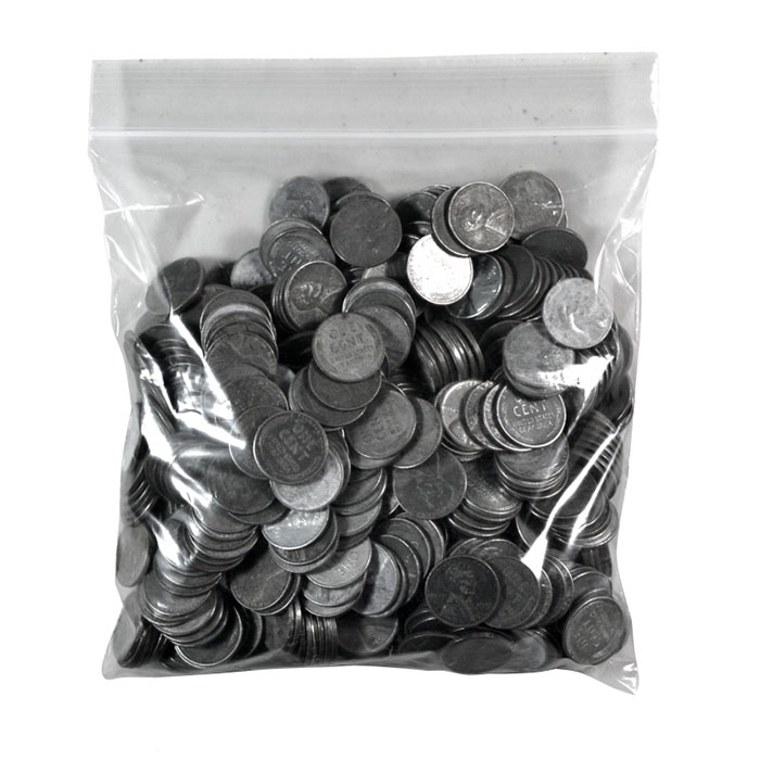 500 pc Bag of Lincoln Steel Cent Coins