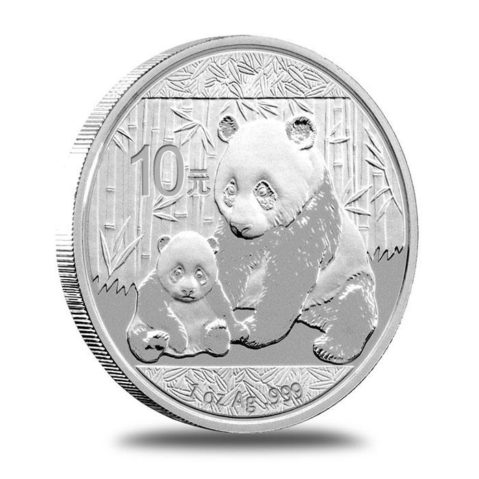 2012 1 oz Chinese Silver Panda Bullion Coin Obverse