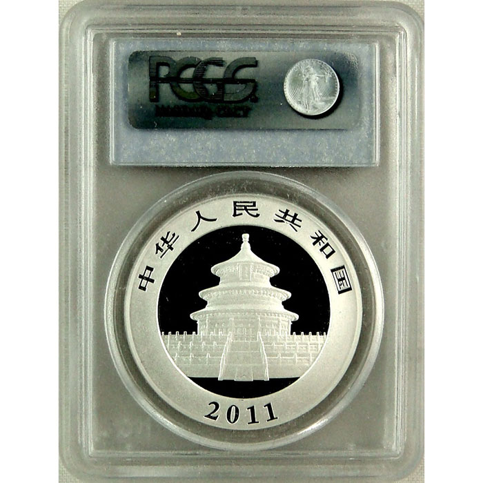 2011 1 oz Chinese Silver Panda | PCGS MS70-5137