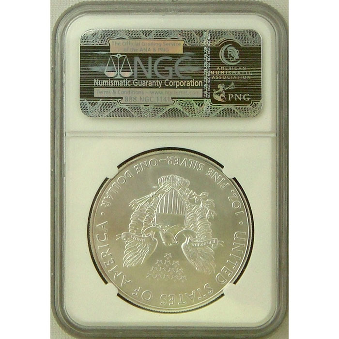2011 Silver Eagle NGC MS69 | 25th Anniversary | Early Release-5168