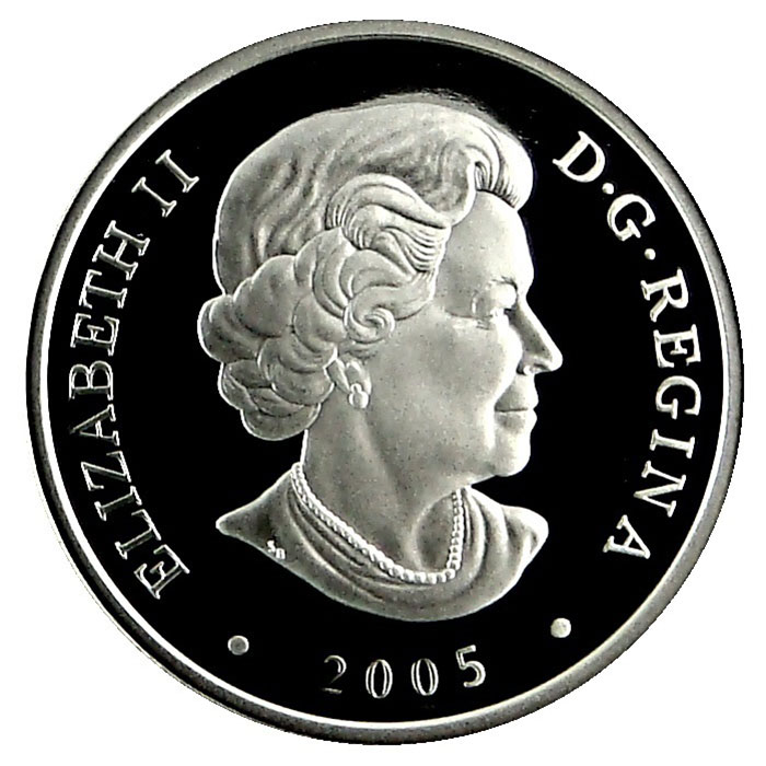2005 Canada Northwest Territories Diamonds Holographic Silver Coin Obverse