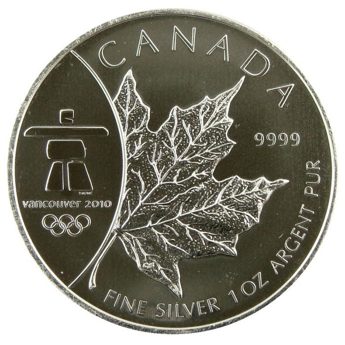 2008 1 oz Canada Silver Maple Leaf   Vancouver Privy-0
