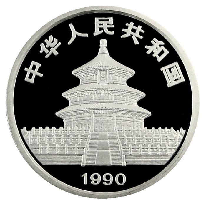 1990 1 oz Chinese Silver Panda