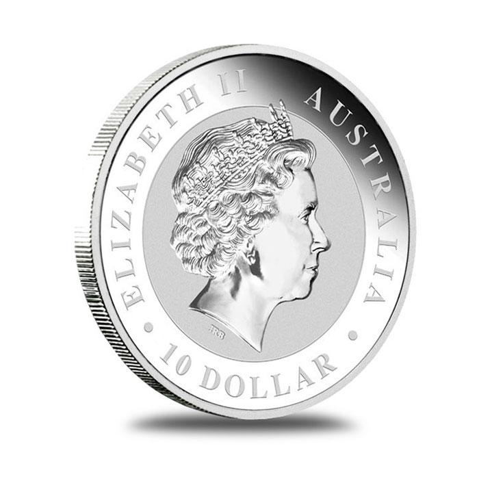 Australian Perth Mint 2012 10 oz Silver Koala Bullion Coin Obverse