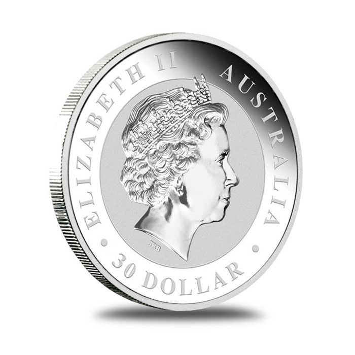 Australian Perth Mint 2012 1 Kilo Silver Koala Bullion Coin Obverse