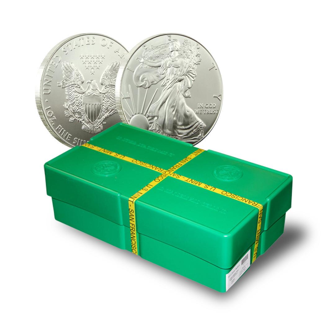 500 2012 San Francisco American Silver Eagle Bullion Coins Monster Box