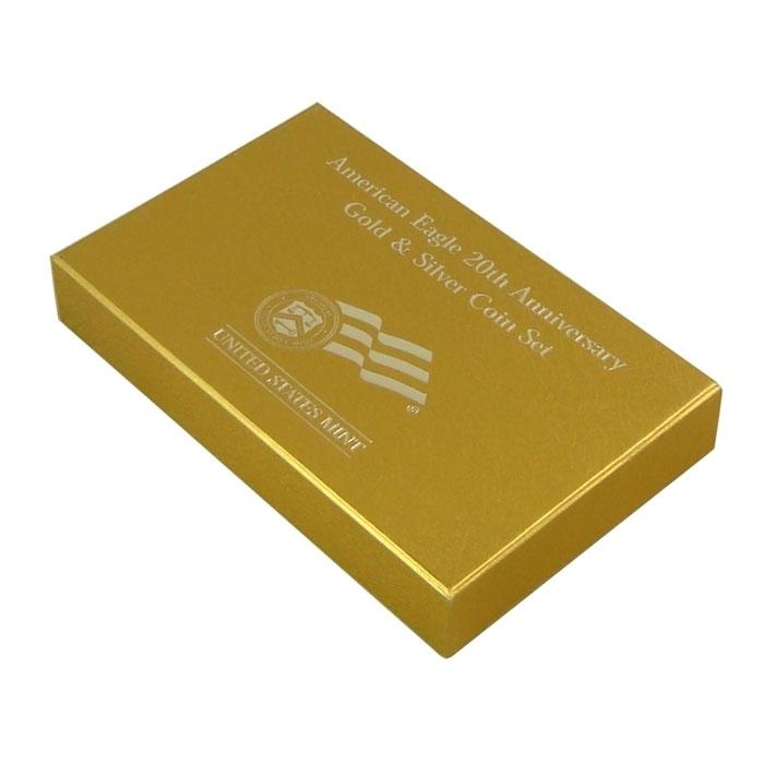 2006-W 2 Coin 20th Anniversary Gold & Silver American Eagle Set In Box