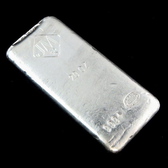 20 oz Johnson Matthey Silver Bar | .999 Fine Silver-0
