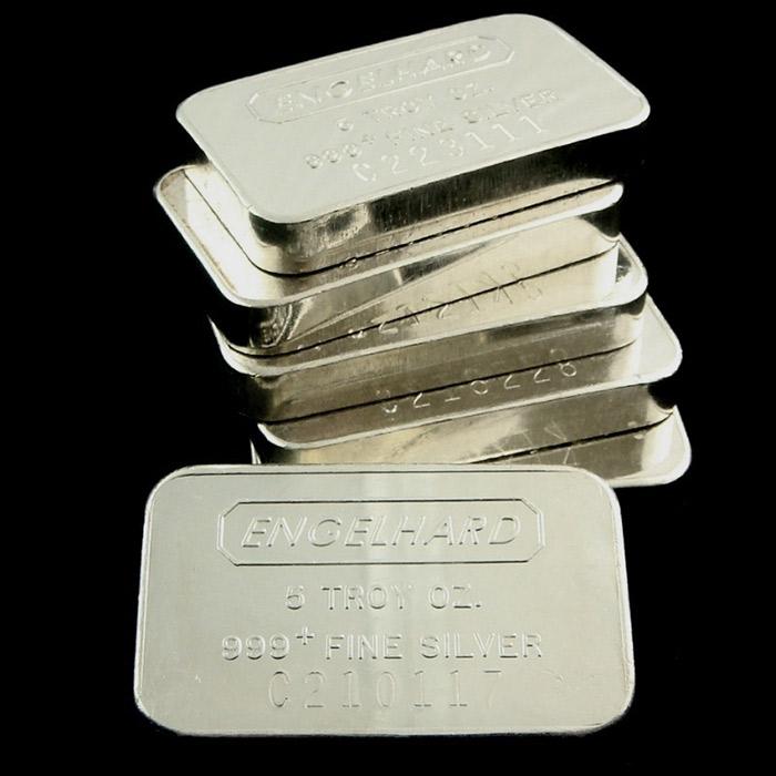 5 oz Engelhard .999 Fine Silver Bars