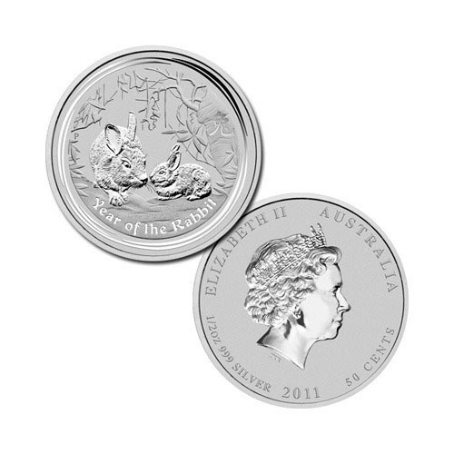 2011 Year of the Rabbit 1/2 oz Silver Coins