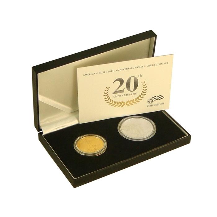 2006-W 2 Coin 20th Anniversary Gold & Silver American Eagle Set