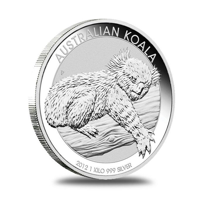 Australian Perth Mint 2012 1 Kilo Silver Koala Bullion Coin Reverse