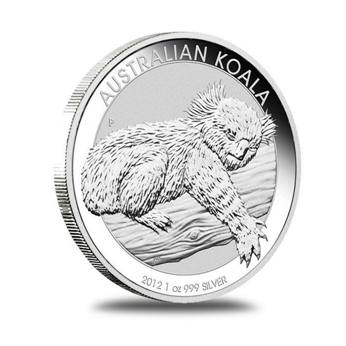 Australian Perth Mint 2012 1 oz Silver Koala Bullion Coin Reverse