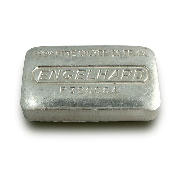 Engelhard 10 oz .999 Fine Silver Loaf Bar
