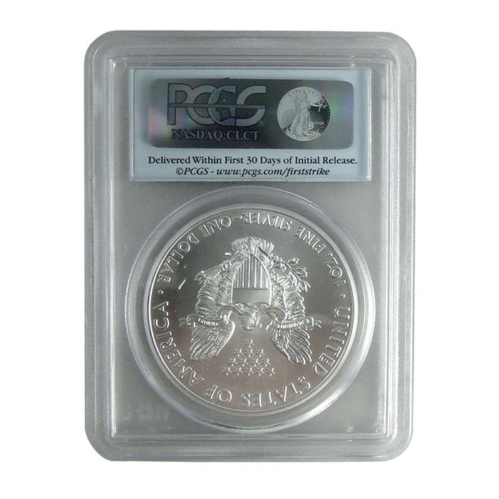 PCGS MS70 First Strike 2012 (W) American Silver Eagle Bullion Coin Reverse