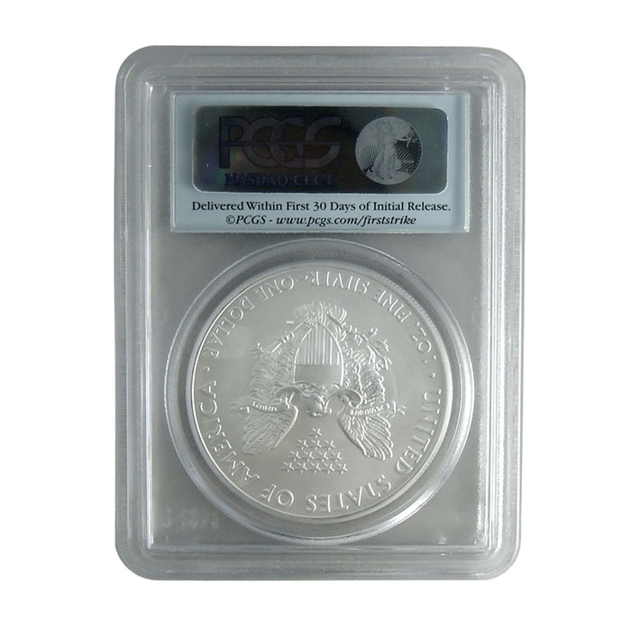 PCGS MS70 First Strike 2012 (S) American Silver Eagle Bullion Coin Reverse