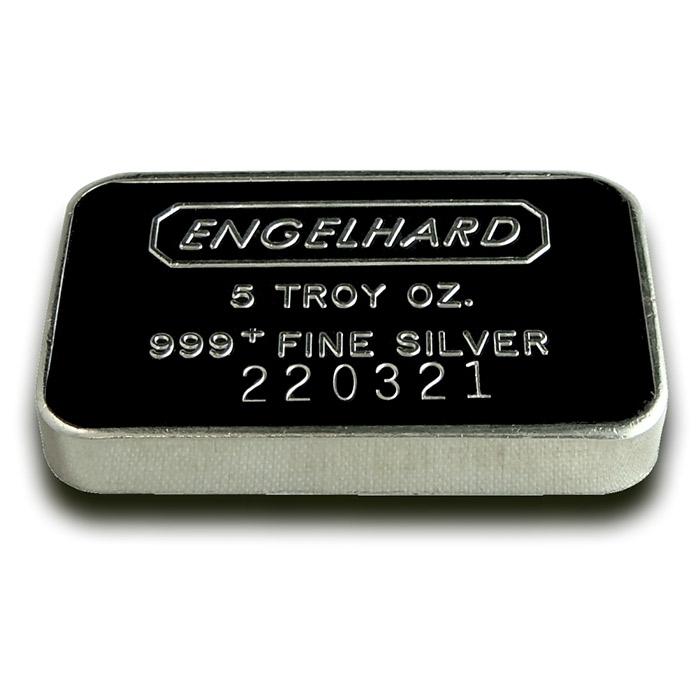 5 oz Engelhard Fine Silver Bar