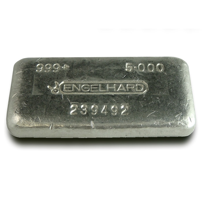 5 oz Engelhard Fine Silver Loaf Bar