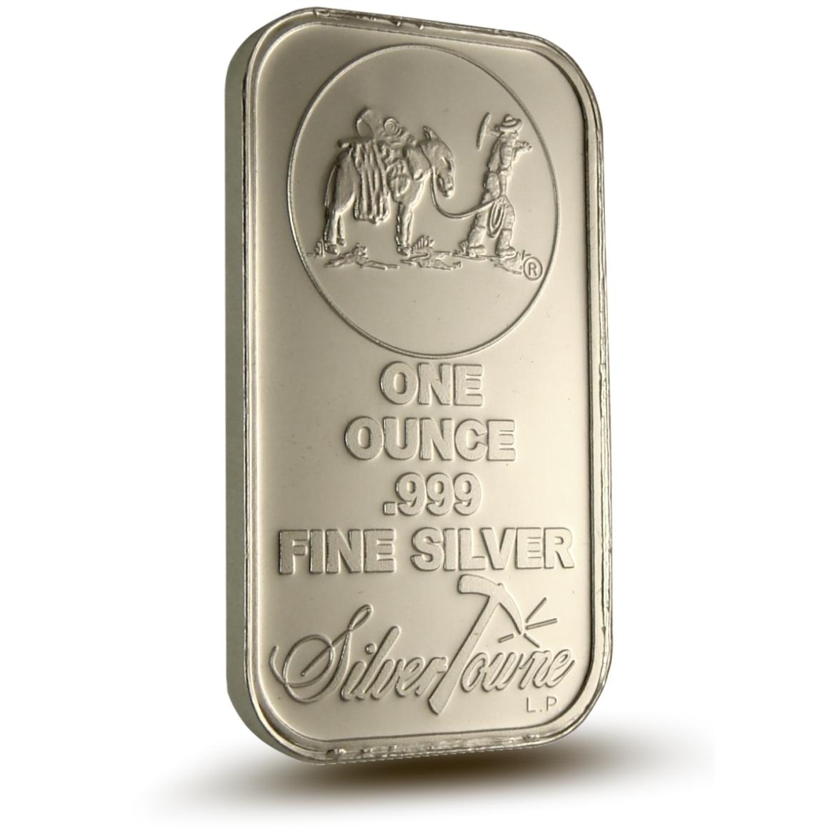 Silvertowne 1 oz .999 Fine Silver Bar Front
