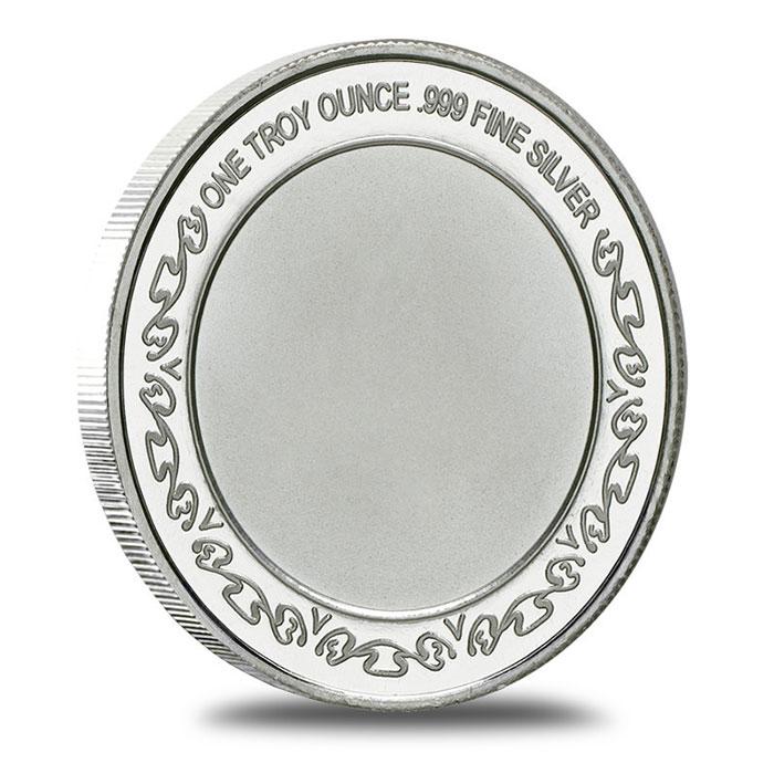 US Army 1 oz .999 Fine Silver Bullion Round Reverse