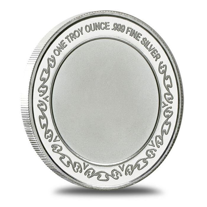 US Navy 1 oz .999 Fine Silver Bullion Round Reverse