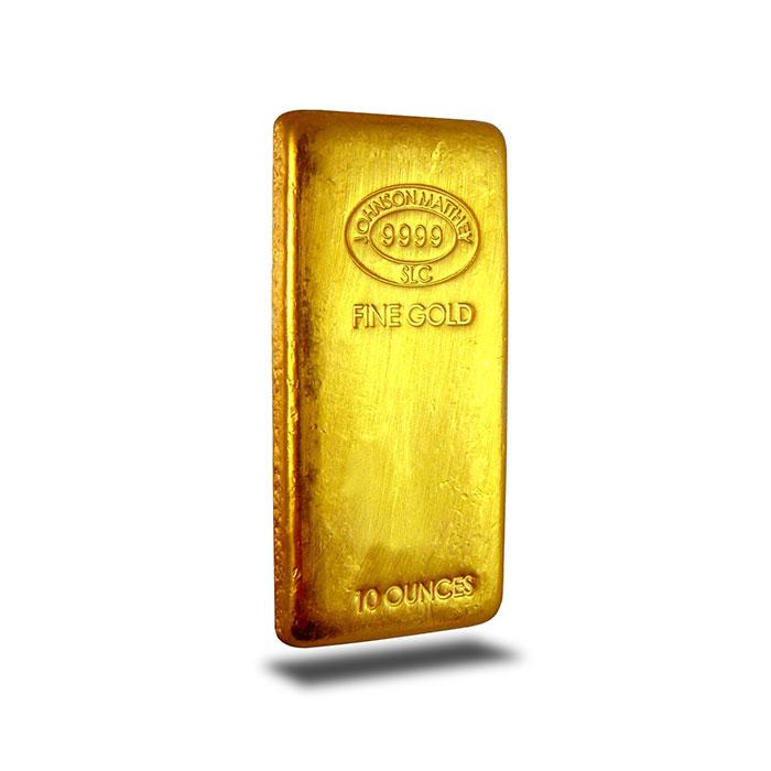 Johnson Matthey 10 oz .9999 Gold Bullion Bar