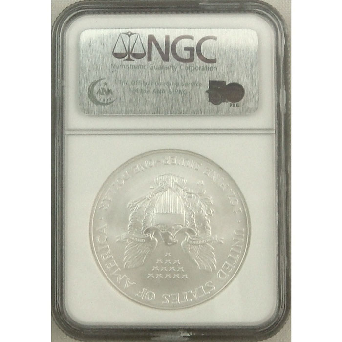 2007-W Burnished Silver Eagle | NGC MS69 Early Release -5694