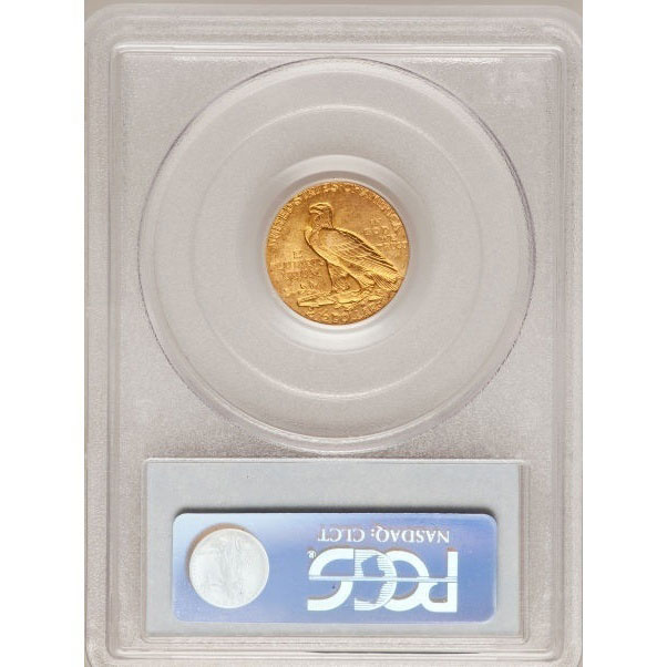 $2.50 Indian Head PCGS MS64 Gold Quarter Eagle Coin Reverse