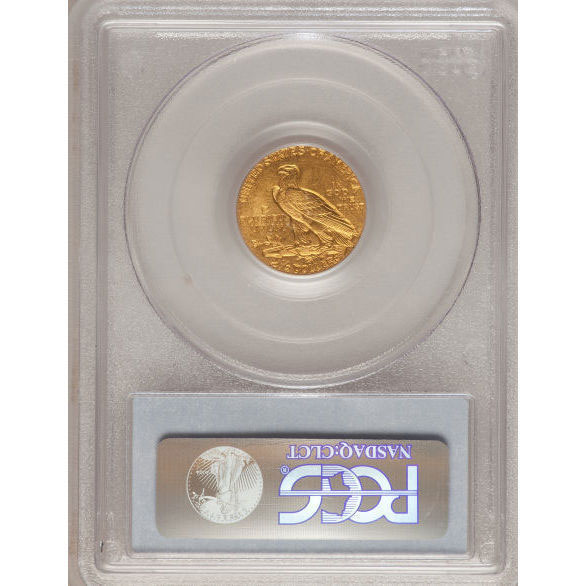$2.50 Indian Head PCGS MS63 Gold Quarter Eagle Coin Reverse