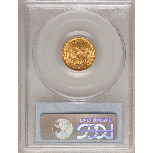 $2.50 Liberty PCGS MS63 Gold Quarter Eagle Coin Reverse