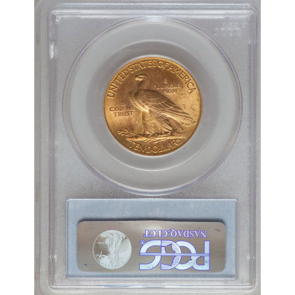 $10 Indian Head PCGS MS63 Gold Eagle Coin Reverse