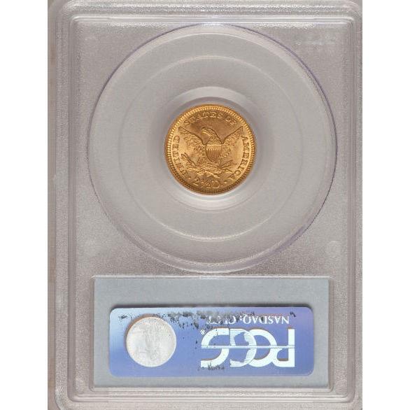 $2.50 Liberty PCGS MS64 Gold Quarter Eagle Reverse