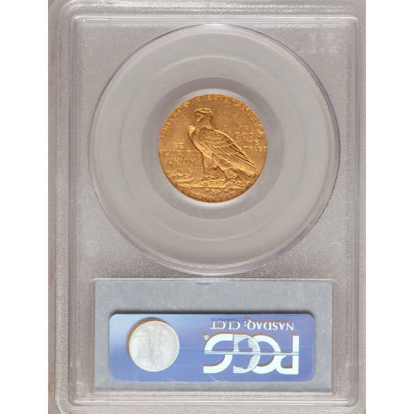 $5 Indian Head PCGS MS62 Gold Half Eagle Coin Reverse
