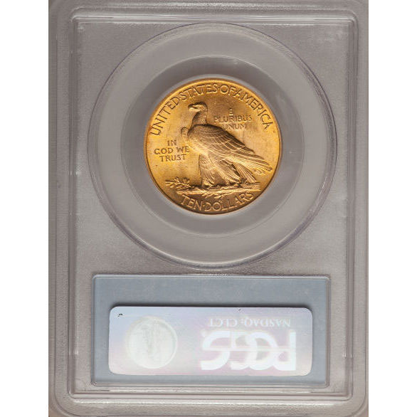 $10 US Gold Eagle Indian Head PCGS MS64 Reverse