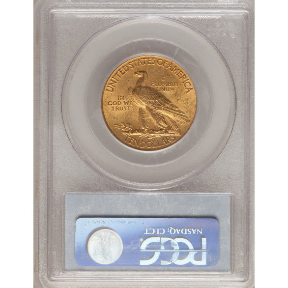 $10 Indian Head PCGS MS62 Gold Eagle Coin Reverse