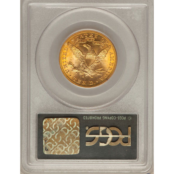 $10 Liberty PCGS MS65 Gold Eagle Coin Reverse