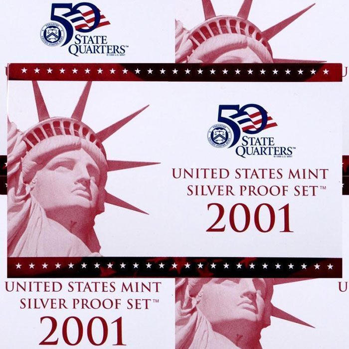 2001 S Silver US Proof Coins Set