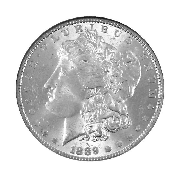 NGC MS63 Pre 1921 Morgan Silver Dollar Obverse