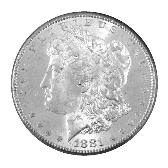 NGC MS64 Pre 1921 Morgan Silver Dollar Obverse