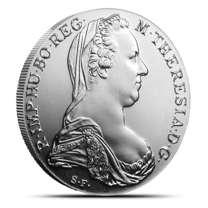 1780 Austrian Silver 1 Thaler | Maria Theresa Restrike | AU+-0