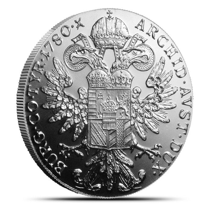 1780 Austrian Silver 1 Thaler | Maria Theresa Restrike | AU+-3387
