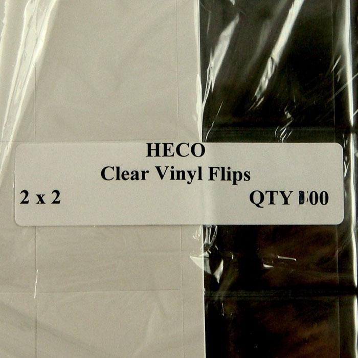 100 2x2 Clear Vinyl Soft Flips