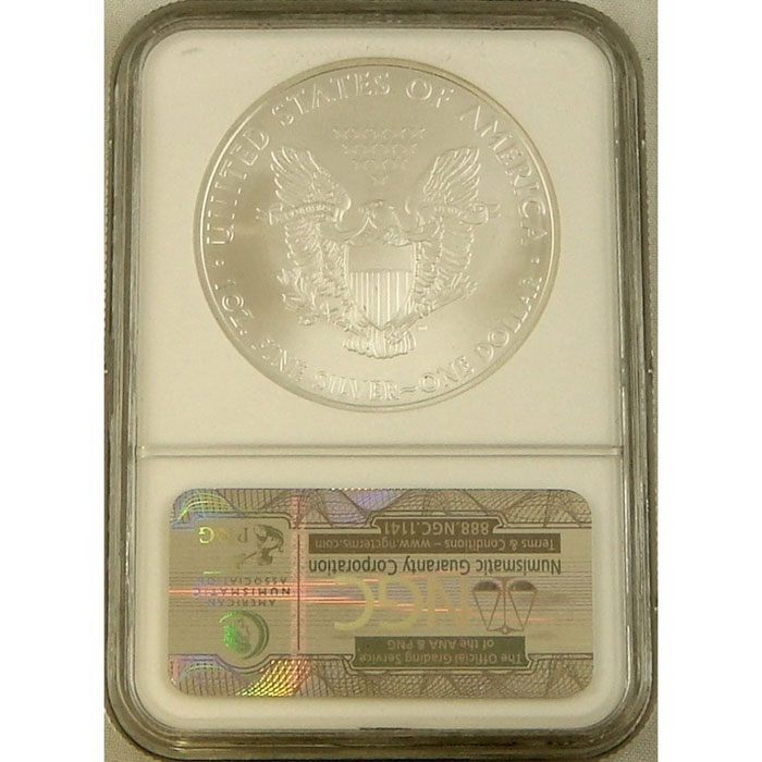 2010 Silver Eagle | NGC MS70 Early Release-3738