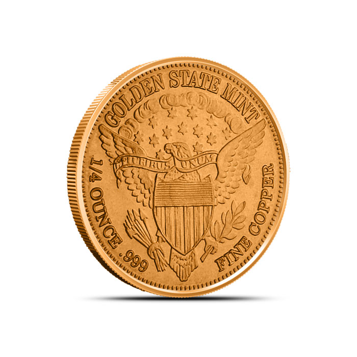 Fourth ounce Copper Round Reverse