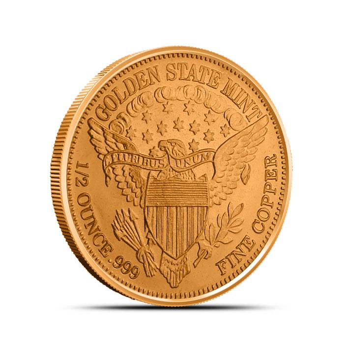 Standing Liberty half oz Copper Round Reverse