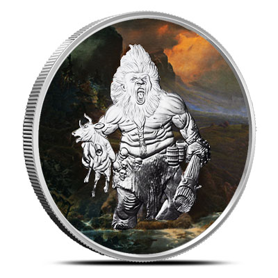 Frost Giant 1 oz Proof Silver Colorized | Nordic Creatures