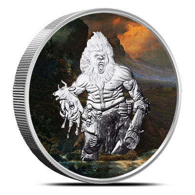 Frost Giant 5 oz Silver Colorized | Nordic Creatures